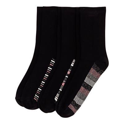 Damen-Socken mit Glitzer-Effekten, 3er-Pack