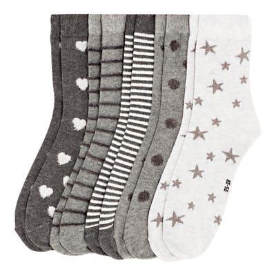 Damen-Socken mit Glitzer, 5er-Pack
