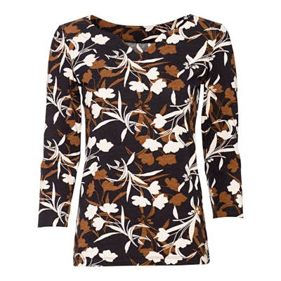 Damen-Shirt mit Blatt-Muster
