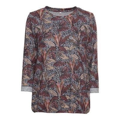 Damen-Sweatshirt mit elastischem Saum