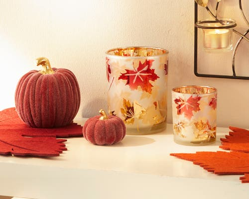 Herbstlich dekoriert